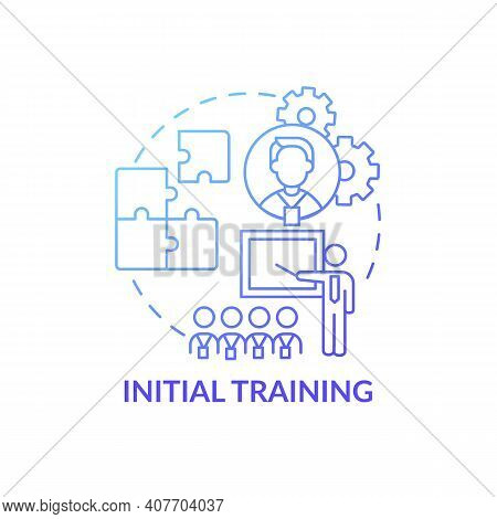 Basic Training Program For New Worker Concept Icon. Theory And Practice. Interactive Discourse With