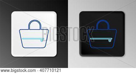 Line Handbag Icon Isolated On Grey Background. Female Handbag Sign. Glamour Casual Baggage Symbol. C