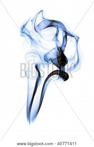 Smoke, white background