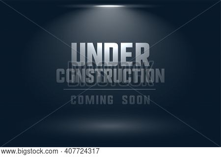 Under Construction Coming Soon Spot Light Background