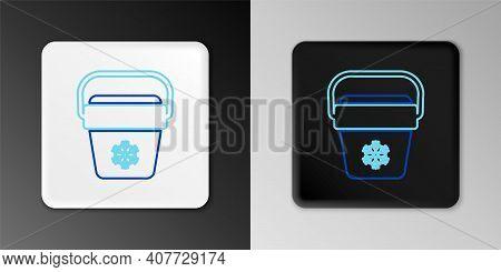 Line Cooler Bag Icon Isolated On Grey Background. Portable Freezer Bag. Handheld Refrigerator. Color