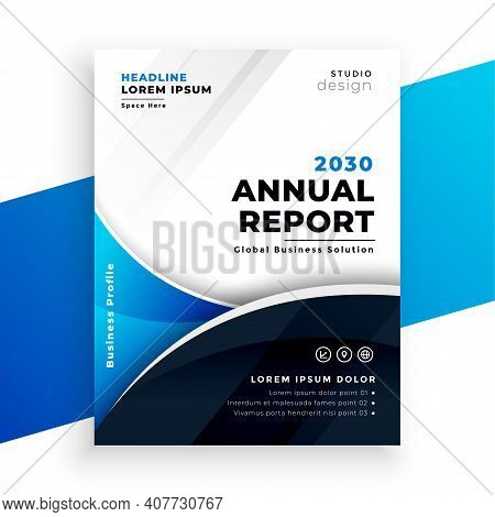 Company Business Annual Report Brichure Template Design