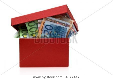 Red Box With The Euros