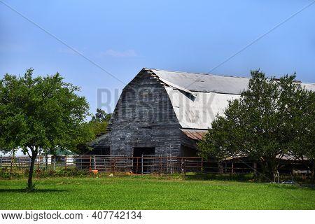 Repairs Needed On Country Barn In Arkansas