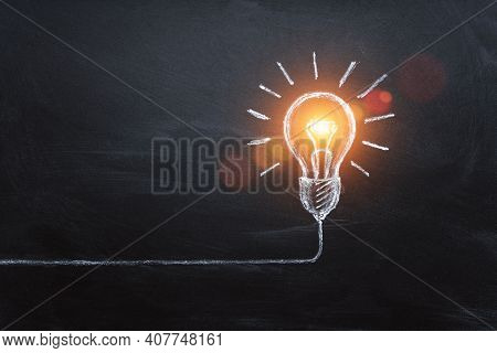Idea Concept With Innovation And Inspiration, Style Symbol Of Creativity, Brainstorm, Creative Idea,