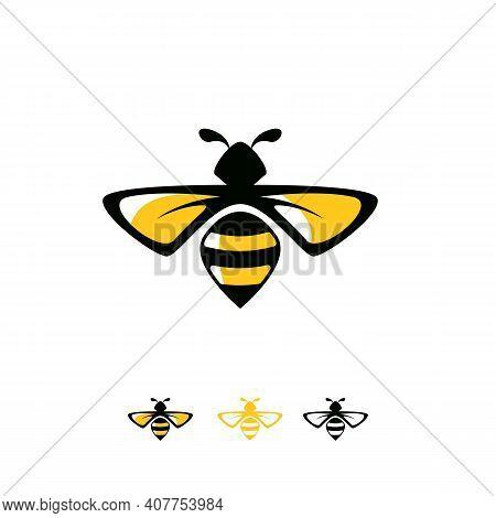 Elegant Bee Logo Designs Concept Vector, Wasp Logo Symbol Concept