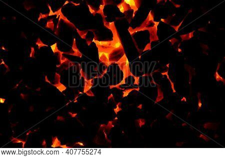 The Dark Rich Graphic Resource Is Composed Of Burning Charcoal.