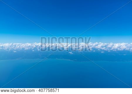 Blue Sky Background With Beautiful Natural White Clouds