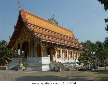 Buddhist Temple In Lao Pdr