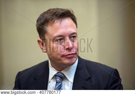 Washington Dc, United States, October 2020,founder Of Tesla And Space X  Elon Musk