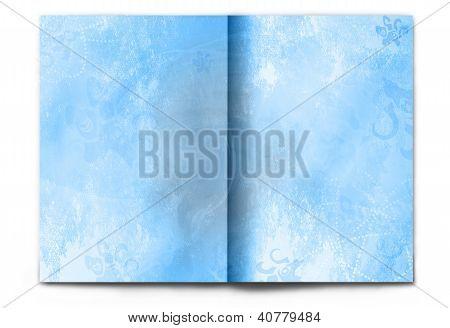 Blank / Empty Winter Magazine Spread On White