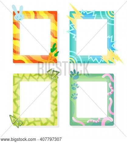 Comic frames in cartoon style. Decorative frames template. Scrapbooks design concept. Place to insert your picture