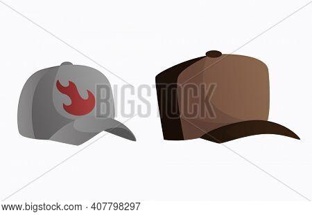 Headwear. Fashion sport headgear in classic style. Baseball caps. Unisex vintage elegant headwear