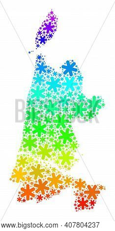 Bright Gradient Composition Of North Holland Map Constructed For Christmas Sales. North Holland Map