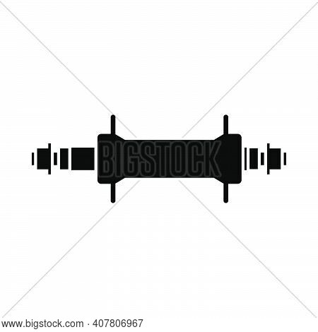 Bike Hub Icon. Black On White Background With Shadow. Vector Illustration.