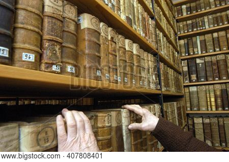Books Archive Of A Monastic Library In A Franciscan Monastery