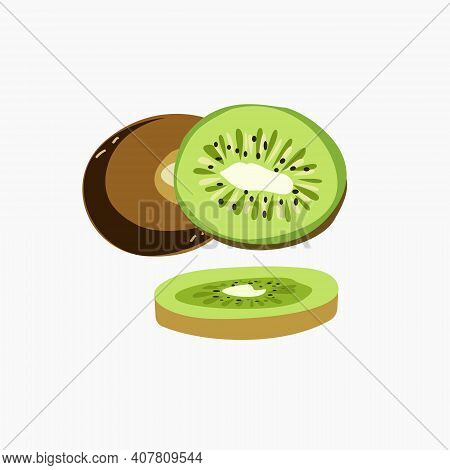Tropical Green Kiwi Berry Whole And Chopped