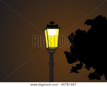 The Electricity Post In The Dark Night