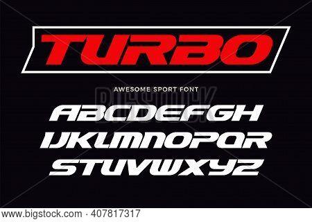 Turbo Font. Heavy Italic Letters, Modern Type For Sport Logo, Speed Race Headline, Dynamic Monogram,