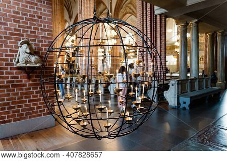 Stockholm, Sweden - August 8, 2019: Interior View Of The Church Of Storkyrkan, The Oldest Church In
