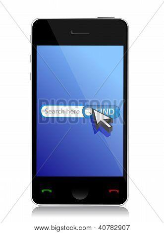 Smart Phone Internet Web Search