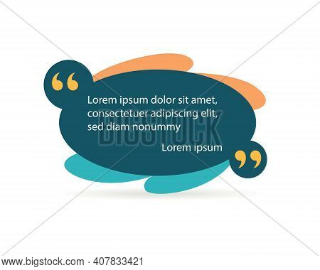 Quote Frame Or Mention Quotations Remarks Template. Info Tag, Quote Textbox Blog Or Discussion Citat