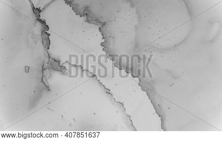 Gray Marble Texture. Luxury Wallpaper. Watercolor Granite Pattern. White Wall Design. Grey Marble Te