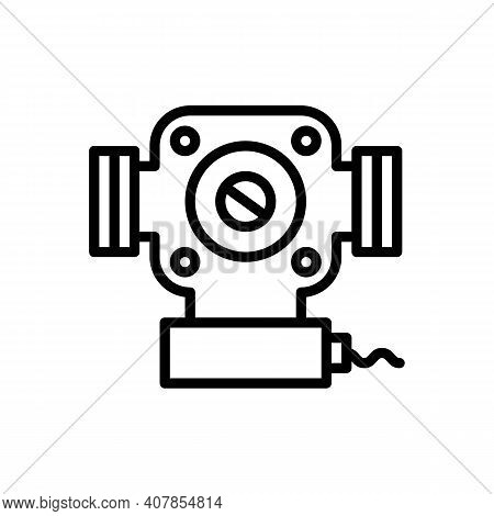 Circulation Pump, Heating, Heat Supply. Vector Sign In A Simple Style Isolated On A White Background