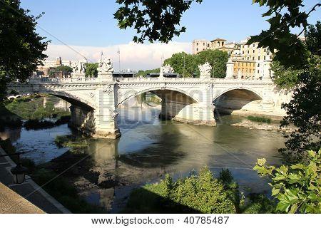 Ponte Vittorio Emanuele Ii In Rome