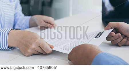 Applicants submitting a resume to the staff to apply for a job, Participating in the selection of ap
