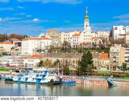Belgrade, Serbia - March 08, 2013: View Of The Old City Center Of Belgrade And Sava River, Serbia