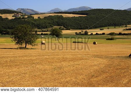 Norcia (pg), Italy - May 25, 2015: The Country Near Norcia, Norcia, Umbria, Italy, Europe