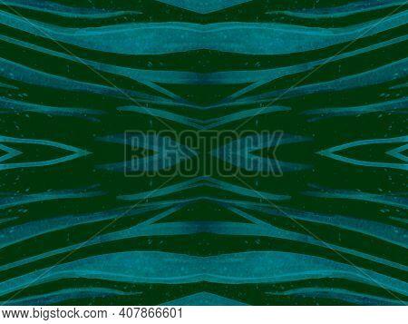Seamless Ethnic Pattern. Animal Fabric Design. Watercolor Safari Wallpaper. Dark Zebra Skin. Zoo Wav