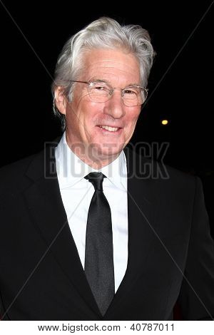 LOS ANGELES - JAN 5:  Richard Gere arrives at the 2013 Palm Springs International Film Festival Gala  at Palm Springs Convention Center on January 5, 2013 in Palm Springs, CA