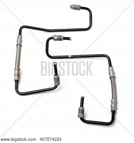 A Two Metal Brake Pipes Are Part Of The Vehicle's Brake System, Which Supplies Brake Fluid Under Pre