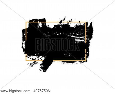 Cosmetic Mascara Stroke With A Frame For Text, On White Background