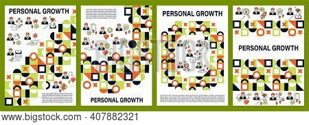 Personal Growth Brochure. Self Improvement, Realization. Personal Development Cover Design And Flyer