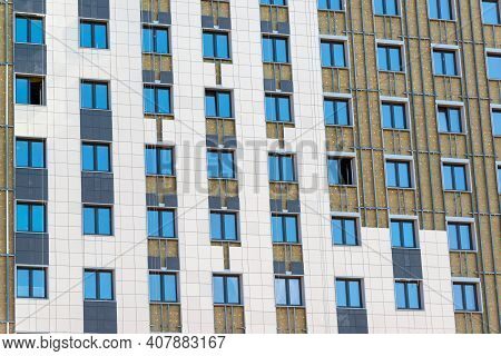 Facade Insulation Works For A Residential Building, Russia