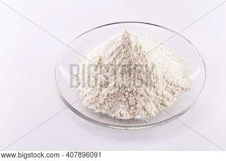 Pile Of Solid Potassium Chlorate On White Background