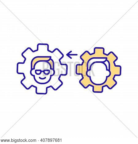Business Function Model Yellow Rgb Color Icon. Produce Product And Provide Service. Activities And A