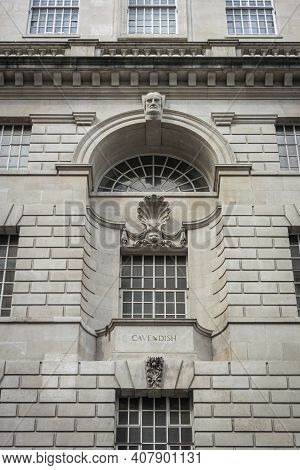 Ornate Windows In The City Of London, Uk