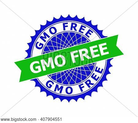 Vector Gmo Free Bicolor Template For Rubber Imitations With Clean Surface. Flat Clean Seal Template