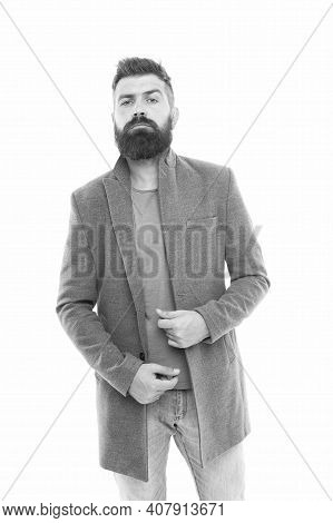 I Prefer Casual Style. Stylish Casual Outfit. Menswear And Fashion Concept. Bearded Hipster Stylish
