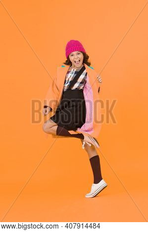 Rebellious Teen. Street Style. Rebel Teen Girl. Madcap Concept. Teen Age. Girl Adorable Stylish Mode