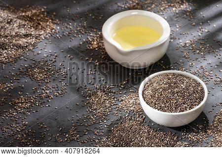 Chia Seeds And Oil - Salvia Hispanica