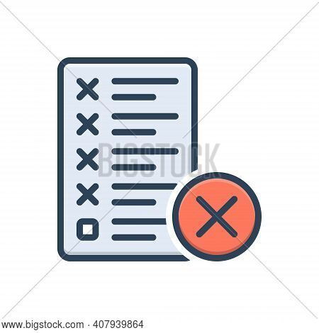 Color Illustration Icon For Mistake Error Message Assignment Manuscript Editing