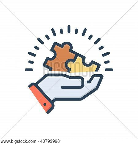 Color Illustration Icon For Appropriations Combination Puzzle Input Appropriate Different Compatible