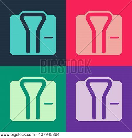 Pop Art Bathrobe Icon Isolated On Color Background. Vector