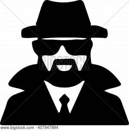 Spy Icon Isolated On White Background , Vacant, Vector, Wanted, Work