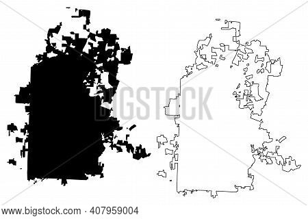 High Point City, North Carolina (united States Cities, United States Of America, Usa City) Map Vecto